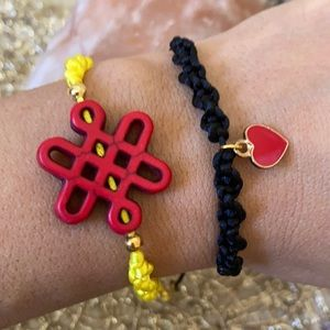 Knot Chinese Howlite | Love braided bracelet set